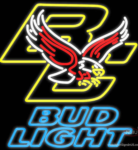 Bud Light Boston College Golden Eagles Real Neon Glass Tube Neon Sign