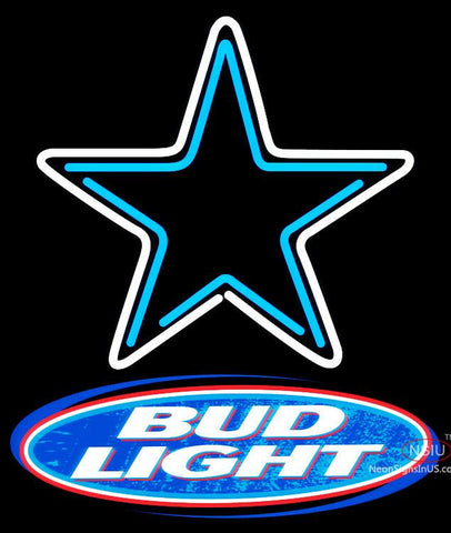 Bud Light Dallas Cowboys NFL Neon Sign