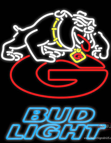 Bud Light Georgia Bulldogs Uga Logo Real Neon Glass Tube Neon Sign NCAA