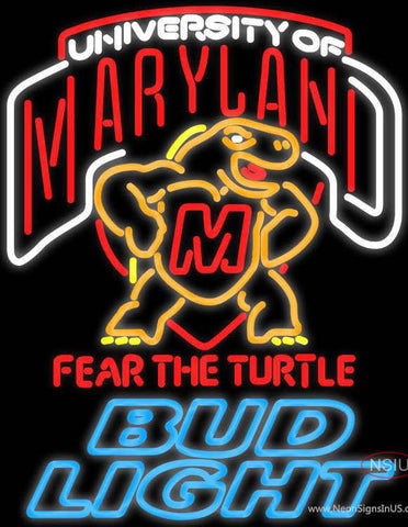 Bud Light Maryland Turtle Real Neon Glass Tube Neon Sign