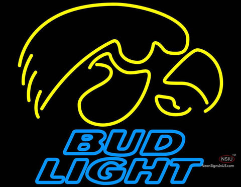 Bud Light University of Iowa Hawkeyes Neon Sign