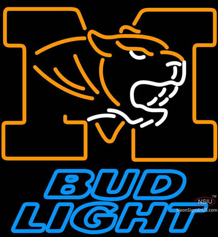 Bud Light University of Missouri neon sign