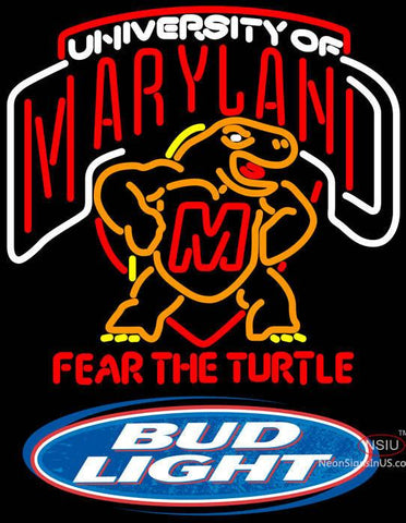 Bud Light Logo Maryland Turtle Neon Sign
