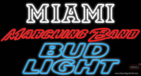 Bud Light Miami University Band Board Real Neon Glass Tube Neon Signs
