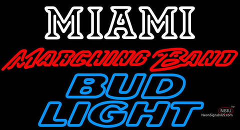 Bud Light Miami University Band Board Neon Signs