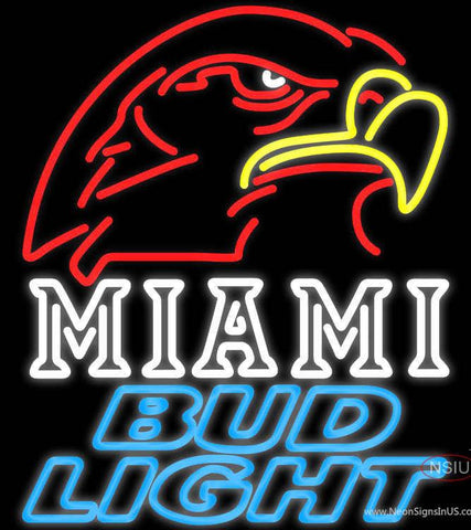 Bud Light Miami University Fall Session Real Neon Glass Tube Neon Sign