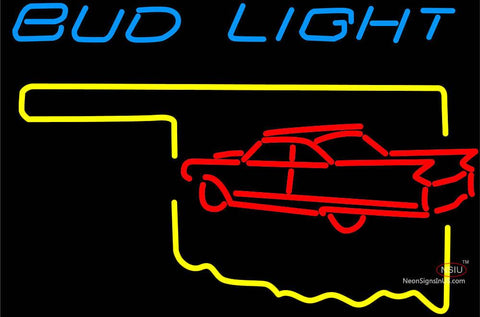 Budlight Oklahoma Car Red Neon Sign