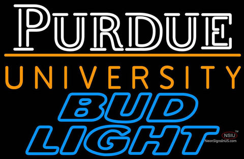 Bud Light Purdue University Logo Neon Sign