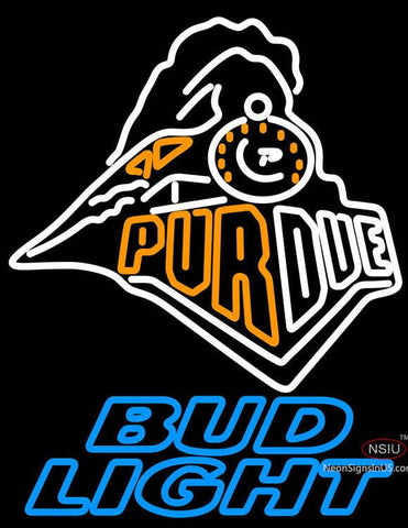 Bud Light Purdue University Train Logo Neon Sign