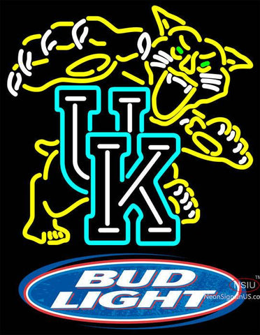 Bud Light Logo UK Kentucky Wildcats Logo Neon Sign NCAA