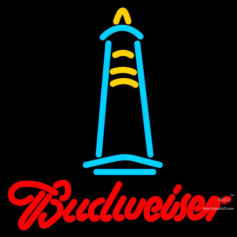 Budweise Lighthouse Neon Sign