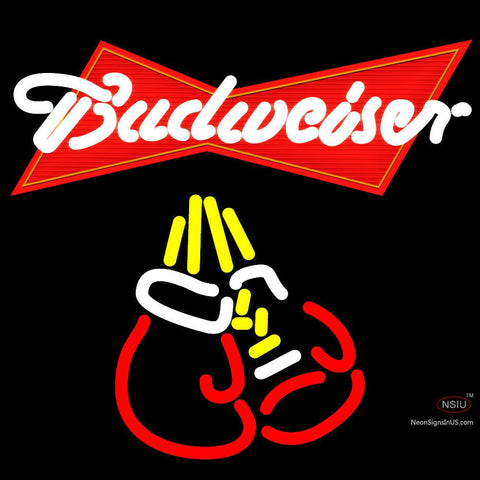 Budweiser Boxing Gloves Neon Beer Sign