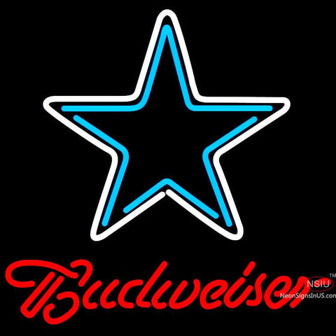 Budweiser Dallas Cowboys NFL Neon Sign  x