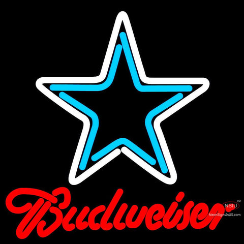 Budweiser Dallas Cowboys NFL Neon Sign