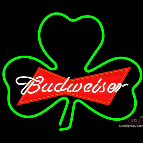 Budweiser Green Clover Neon Sign