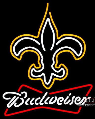 Budweiser Neon New Orleans Saints NFL Neon Sign