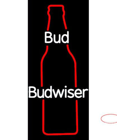 Bud Bottle Neon Beer Sign
