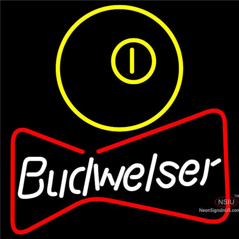Budweiser Pool Bowtie Neon Beer Sign x