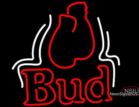 Budweiser Bud Boxing Gloves Neon Beer Sign