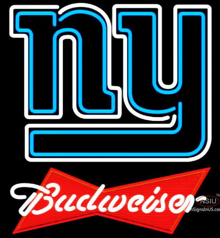 Budweiser Red New York Giants NFL Neon Sign