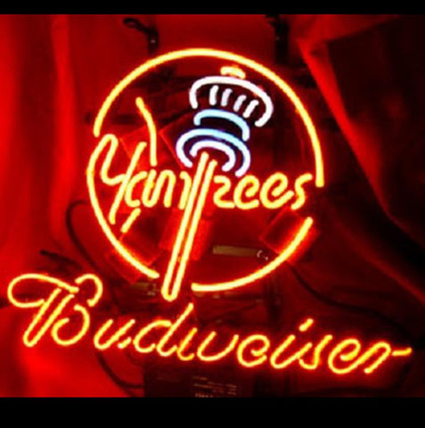 Budweiser New York Yankees Mlb Beer Bar Pub Neon Light Sign