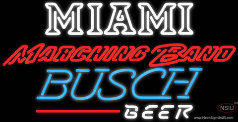 Busch Beer Miami UNIVERSITY Band Board Real Neon Glass Tube Neon Sign