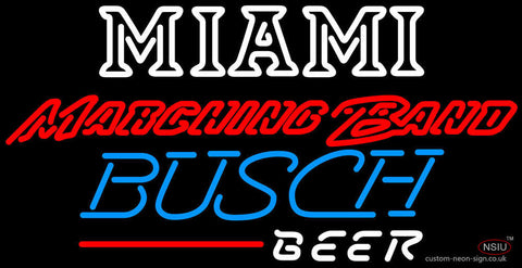 Busch Beer Miami UNIVERSITY Band Board Neon Sign