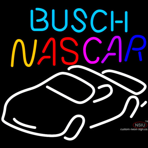 Busch Nascar Neon Beer Sign x