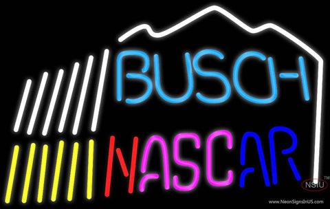 Busch Nascar W/Mountain Neon Beer Sign