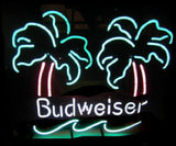 Budweiser Double Palm Vintage Handmade Art Neon Sign