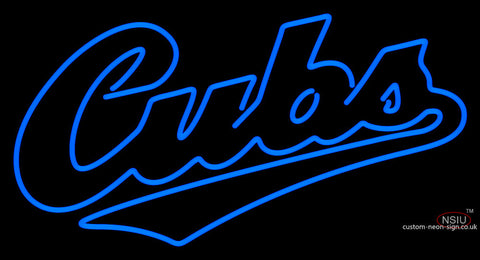 Chicago Cubs Wordmark   Logo MLB Neon Sign