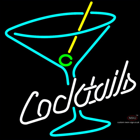 Cocktail Martini Glass Neon Sign
