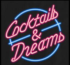 New Cocktails and Dreams Bar Real Neon Glass Tube Neon Sign