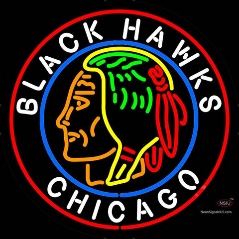 Commemorative  Chicago Blackhawks Neon Sign