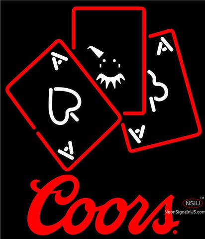 Coors Ace And Poker Neon Sign
