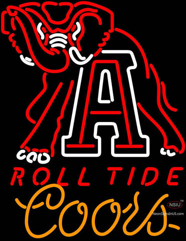 Coors Light Alabama Roll Tide Neon Sign