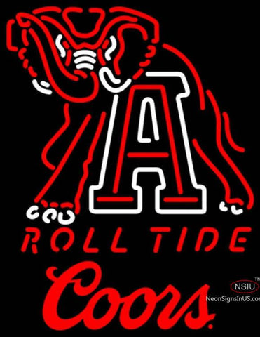 Coors Alabama Roll Tide UNIVERSITY Neon Sign