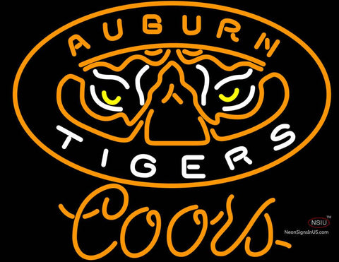 Coors Light Auburn Tigers Neon Sign