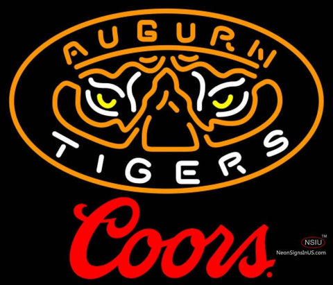 Coors Auburn Tigers UNIVERSITY Neon Sign