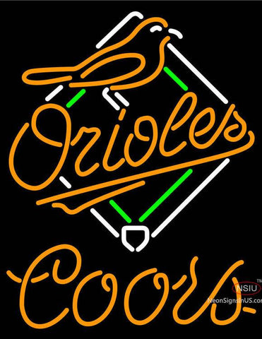 Coors Baltimore Orioles MLB Neon Beer Sign