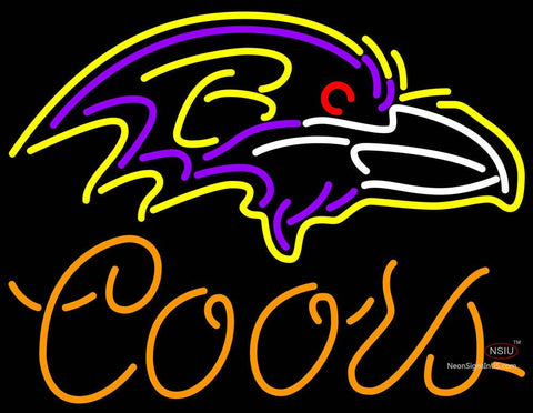 Coors Baltimore Ravens NFL Neon Sign