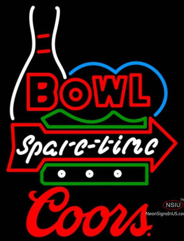 Coors Bowling Bowl Spare Time Neon Sign
