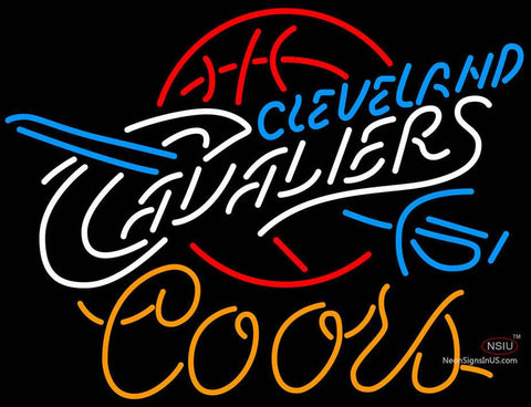 Coors Cleveland Cavaliers NBA Neon Sign