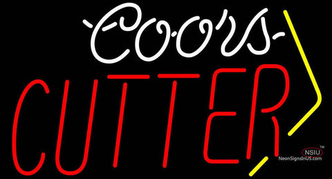 Coors Cutter Neon Beer Sign