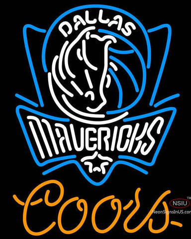 Coors Dallas Mavericks NBA Neon Sign