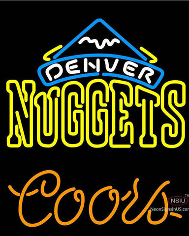 Coors Denver Nuggets NBA Neon Sign