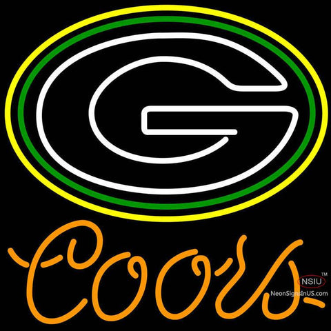 Coors Green Bay Packers NFL Neon Sign x