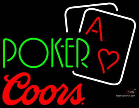 Coors Green Poker Neon Sign 7