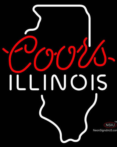 Coors Illinois Neon Beer Sign