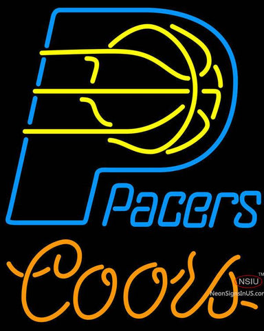 Coors Indiana Pacers NBA Neon Sign